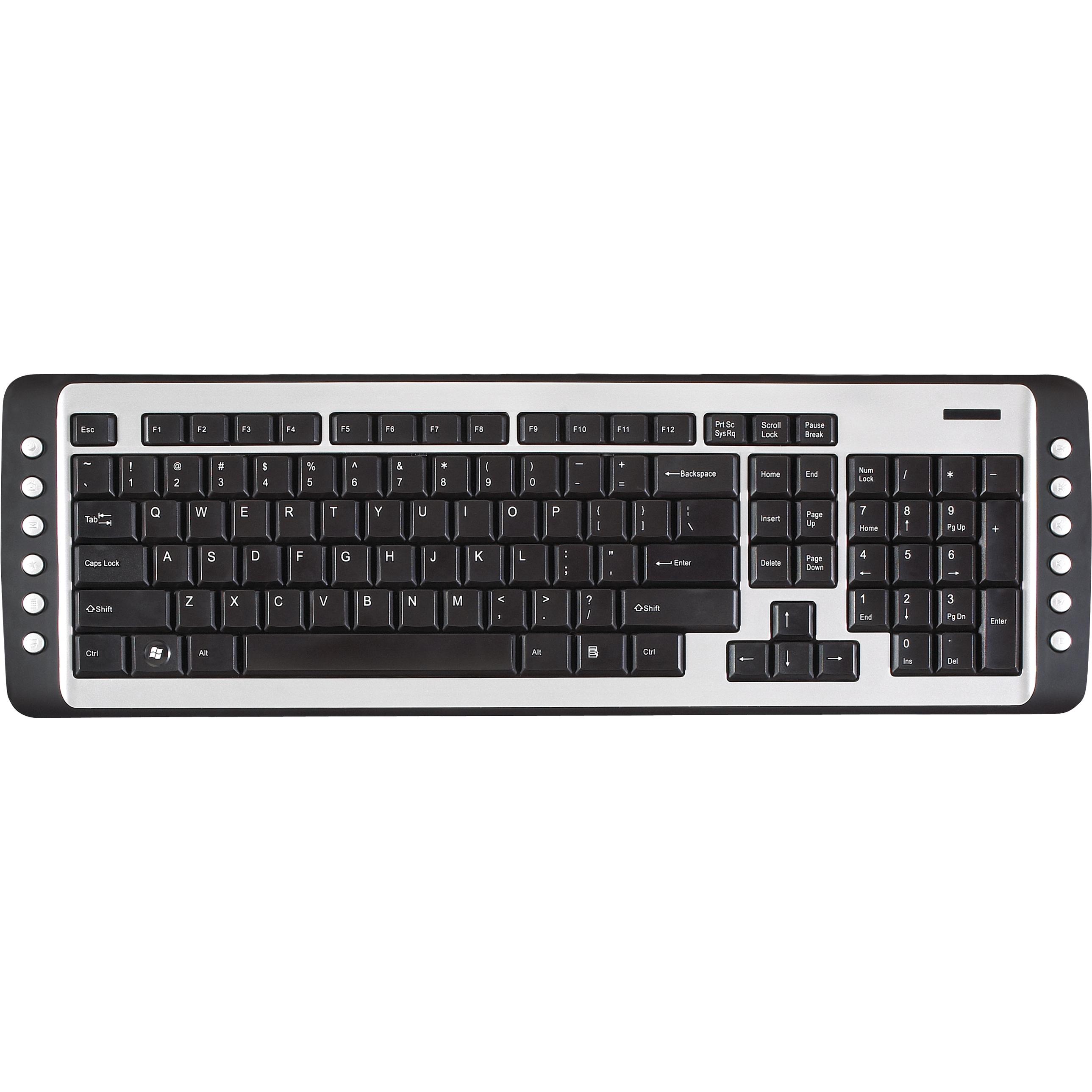 2 4 ghz wireless multimedia keyboard black silver akb24us keyboards targus. Black Bedroom Furniture Sets. Home Design Ideas