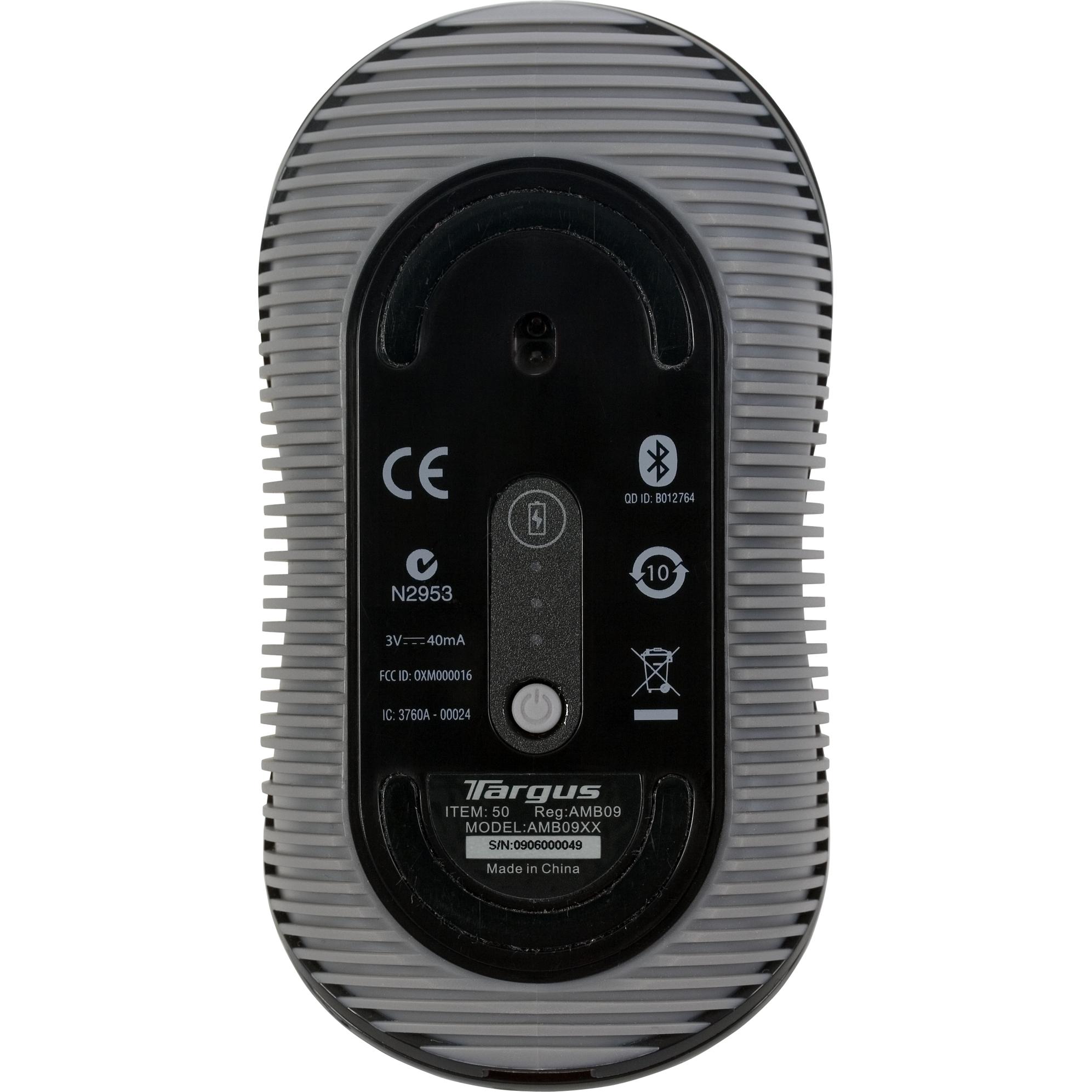 Bluetooth 174 Comfort Laser Mouse Black Gray Amb09us