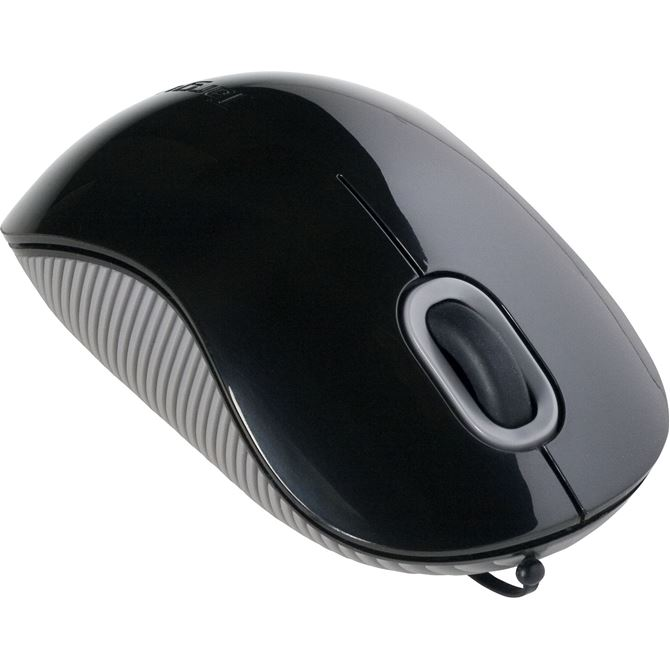 Cord-Storing Optical Mouse