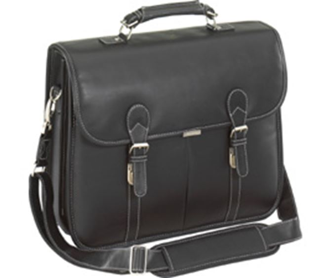 "Picture of 15.4"" Leather Messenger"