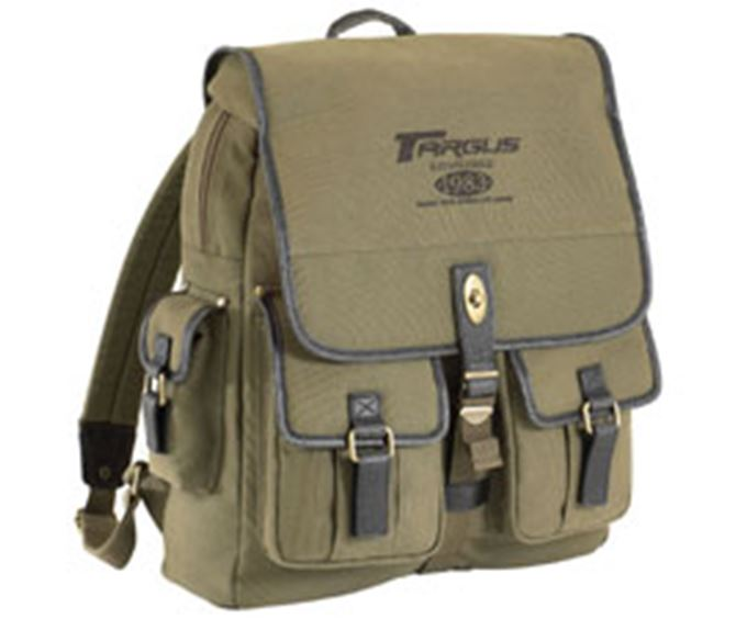"Picture of 15.4"" Cotton Canvas Laptop Backpack"
