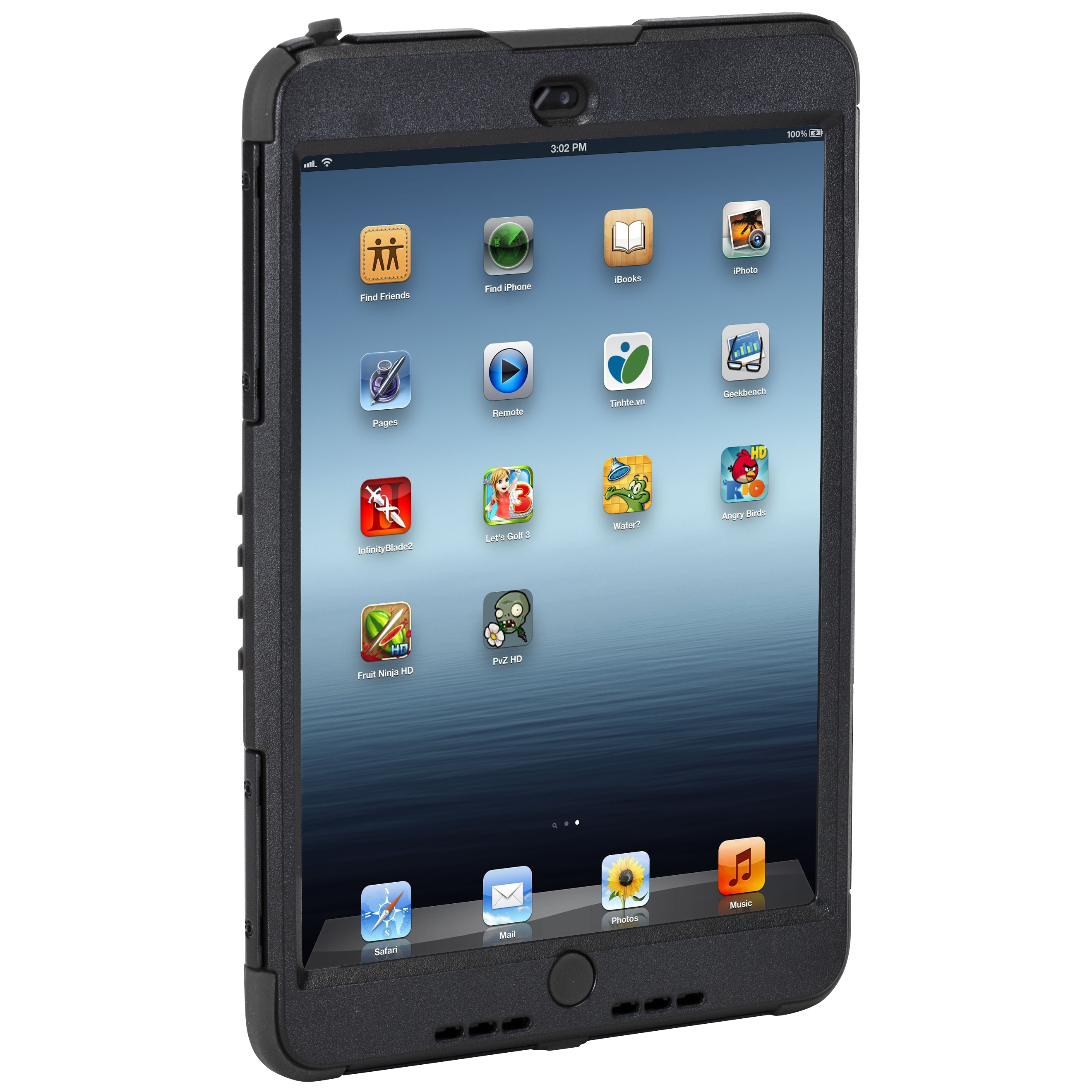 safeport® case rugged max pro for ipad mini - thd046us - black