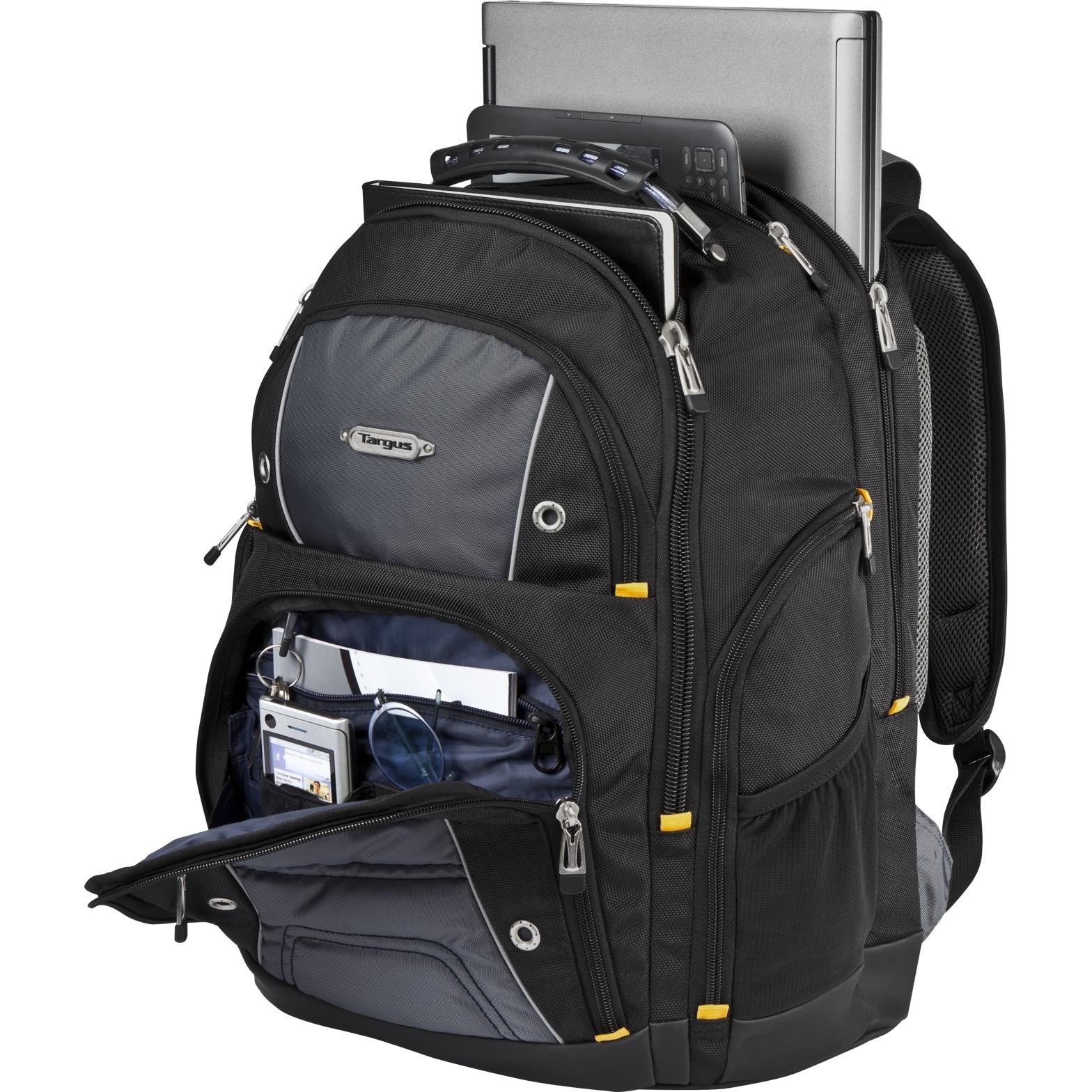 "781d42516547 16"" Drifter II Plus Backpack - TSB702US - Black Gray  Backpacks ."