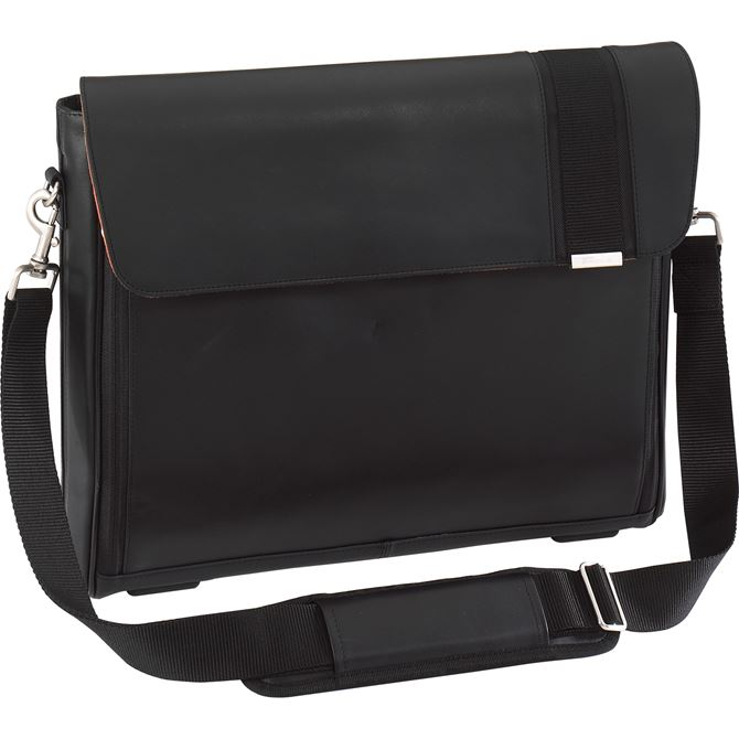 "Picture of 15"" radius Leather Messenger"