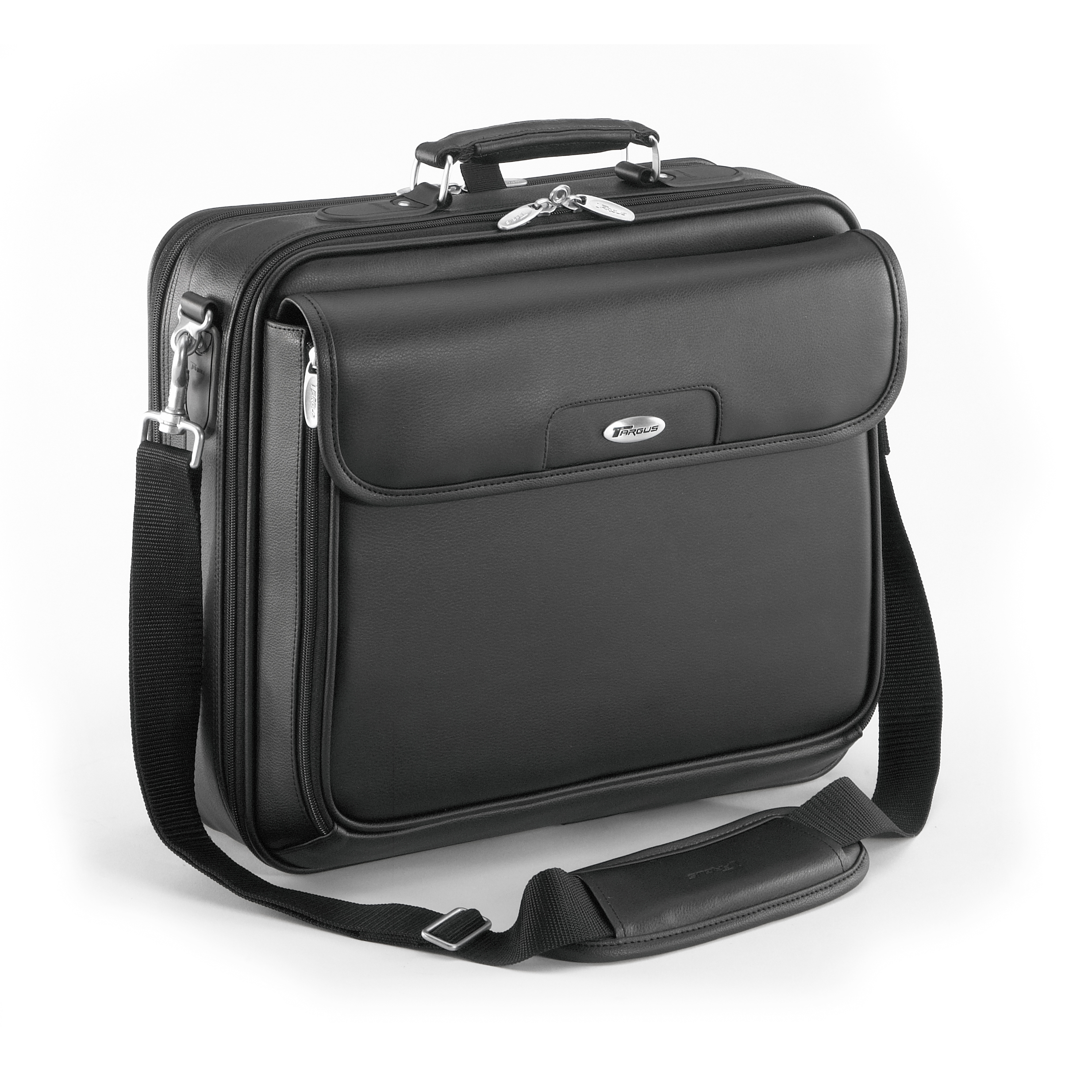 """15.4"""" Traditional Leather Laptop Case - CLN5 - Black: Briefcases: Targus"""