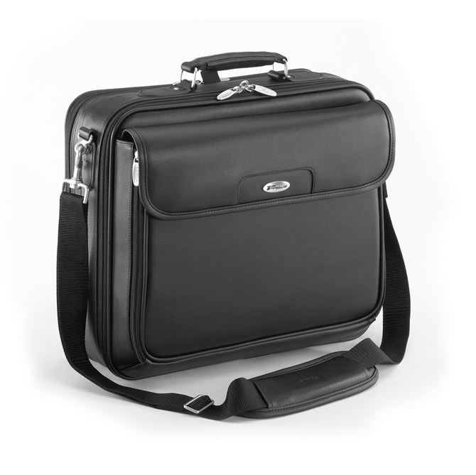 "Picture of 15.4"" Traditional Leather Laptop Case"