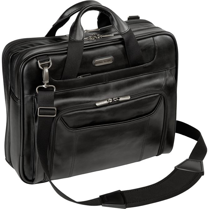 "14"" Leather Corporate Traveler Laptop Case"