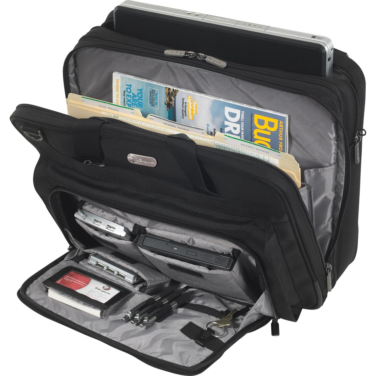 15 6 Checkpoint Friendly Air Traveler Laptop Case Tbt04401us Black Briefcases Targus