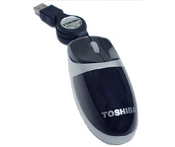 Picture of Toshiba Ultra-Mini Retractable Optical Mouse