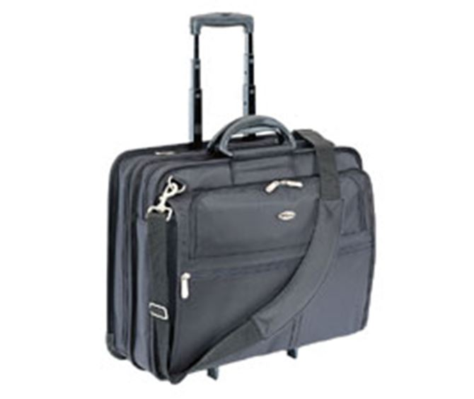 "Picture of 17"" XL Rolling Laptop Case - with HP Luggage Tag"
