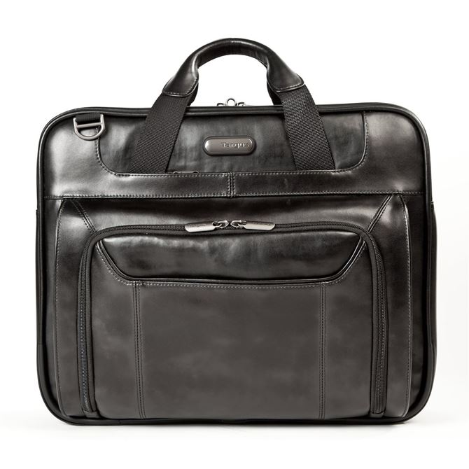 "Picture of 14"" Leather Corporate Traveler Laptop Case"