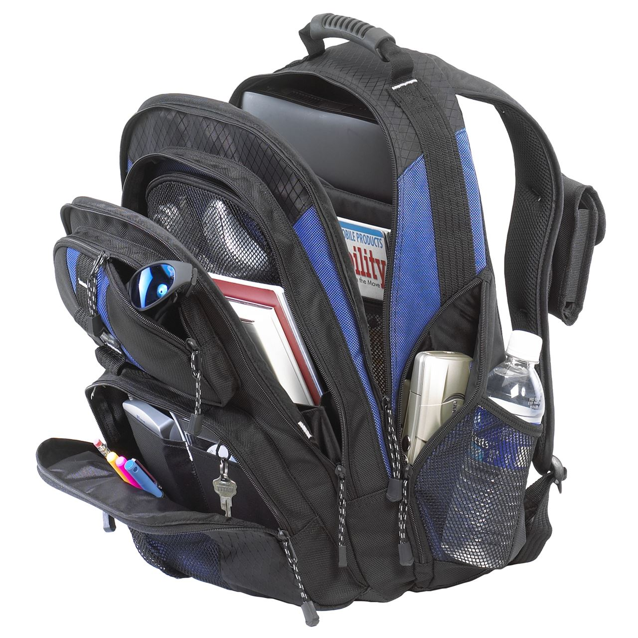 "15.4"" Sport Laptop Backpack - TSB215 - Black/Blue: Backpacks: Targus"