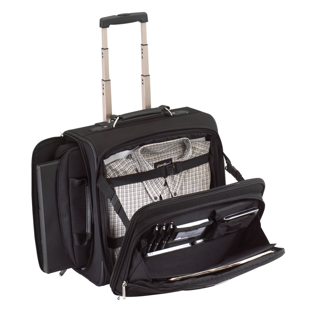 "15"" Side Access Rolling Laptop Case - OCN700 - Black: Rollers: Targus"