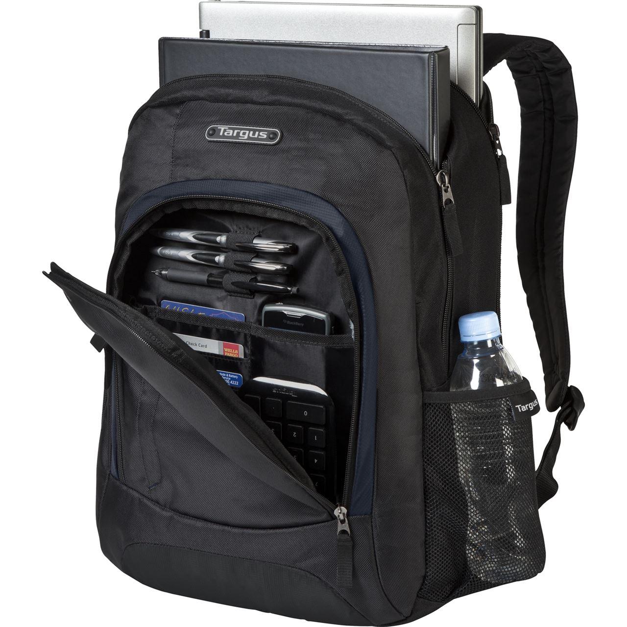 16 urban ii laptop backpack tsb196us black navy backpacks targus. Black Bedroom Furniture Sets. Home Design Ideas