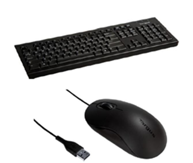 Corporate USB Wired Keyboard & Mouse Bundle – 10 pack