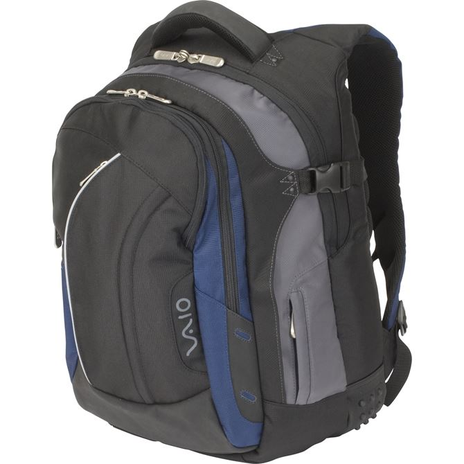 "Picture of Sony 15.4"" VAIO® Laptop Backpack - Black/Midnight Blue"