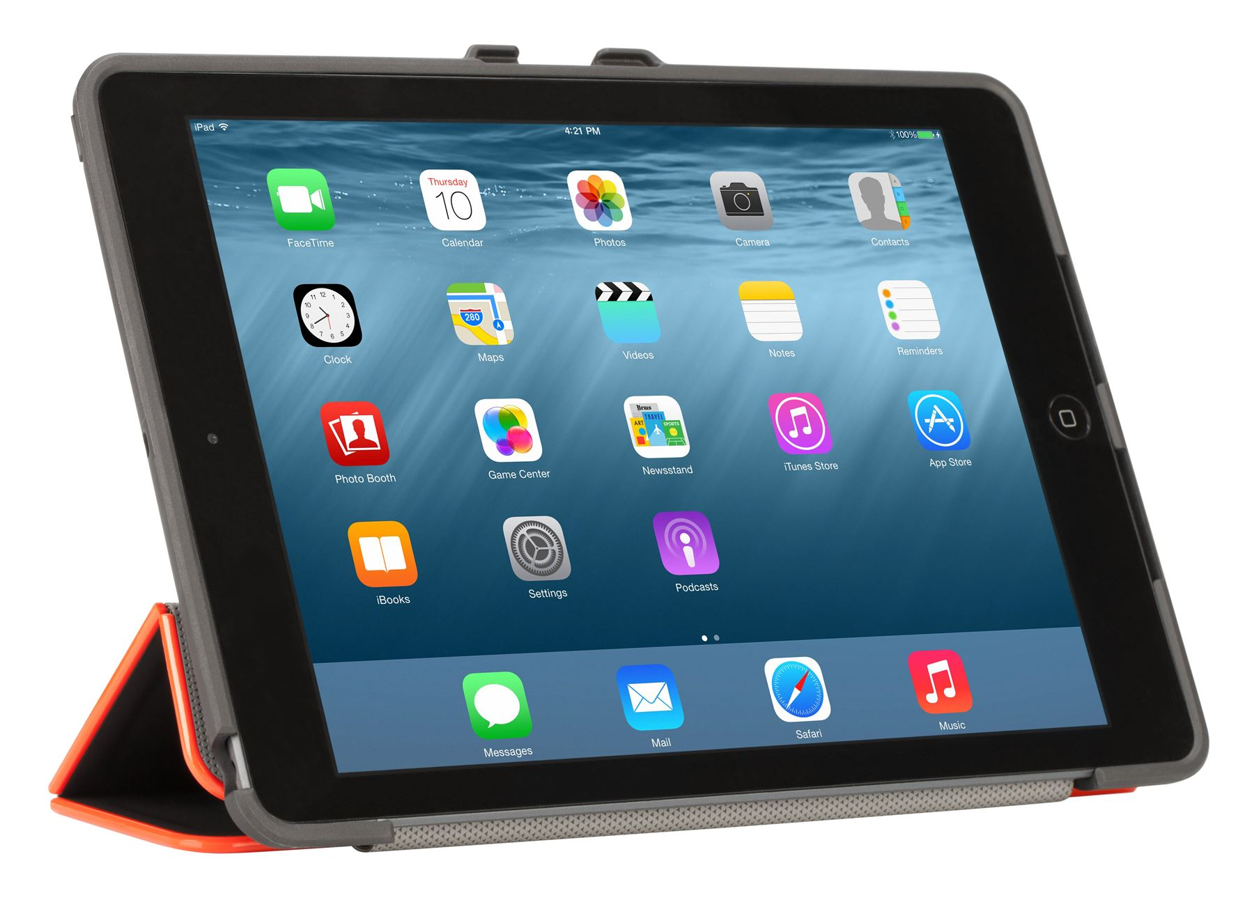 3D Protection Case for iPad Air 2 - THZ522US - Black/Red ...
