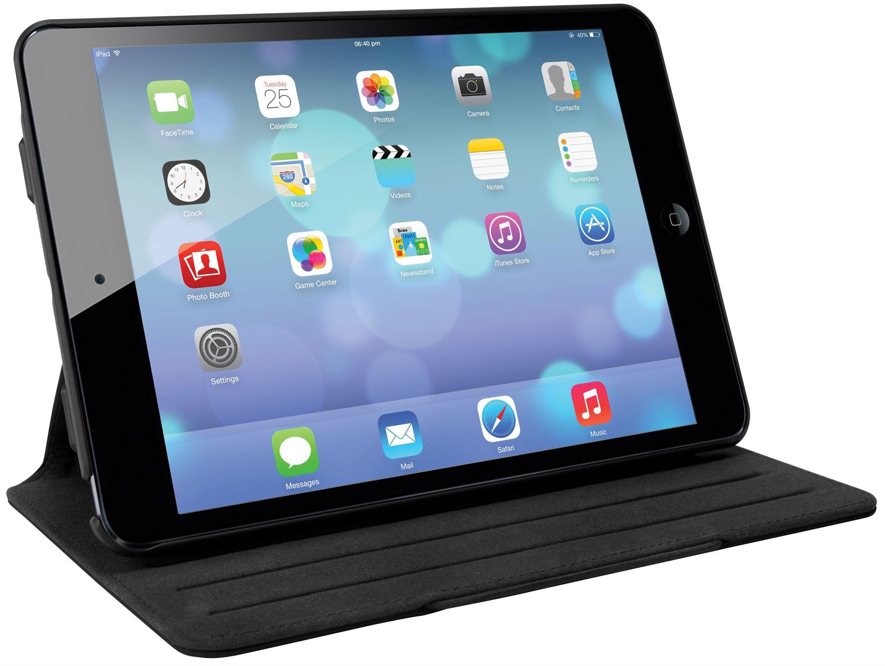 versavu slim 2 case for ipad mini 3 2 ipad mini thz36105us black tablet cases targus. Black Bedroom Furniture Sets. Home Design Ideas