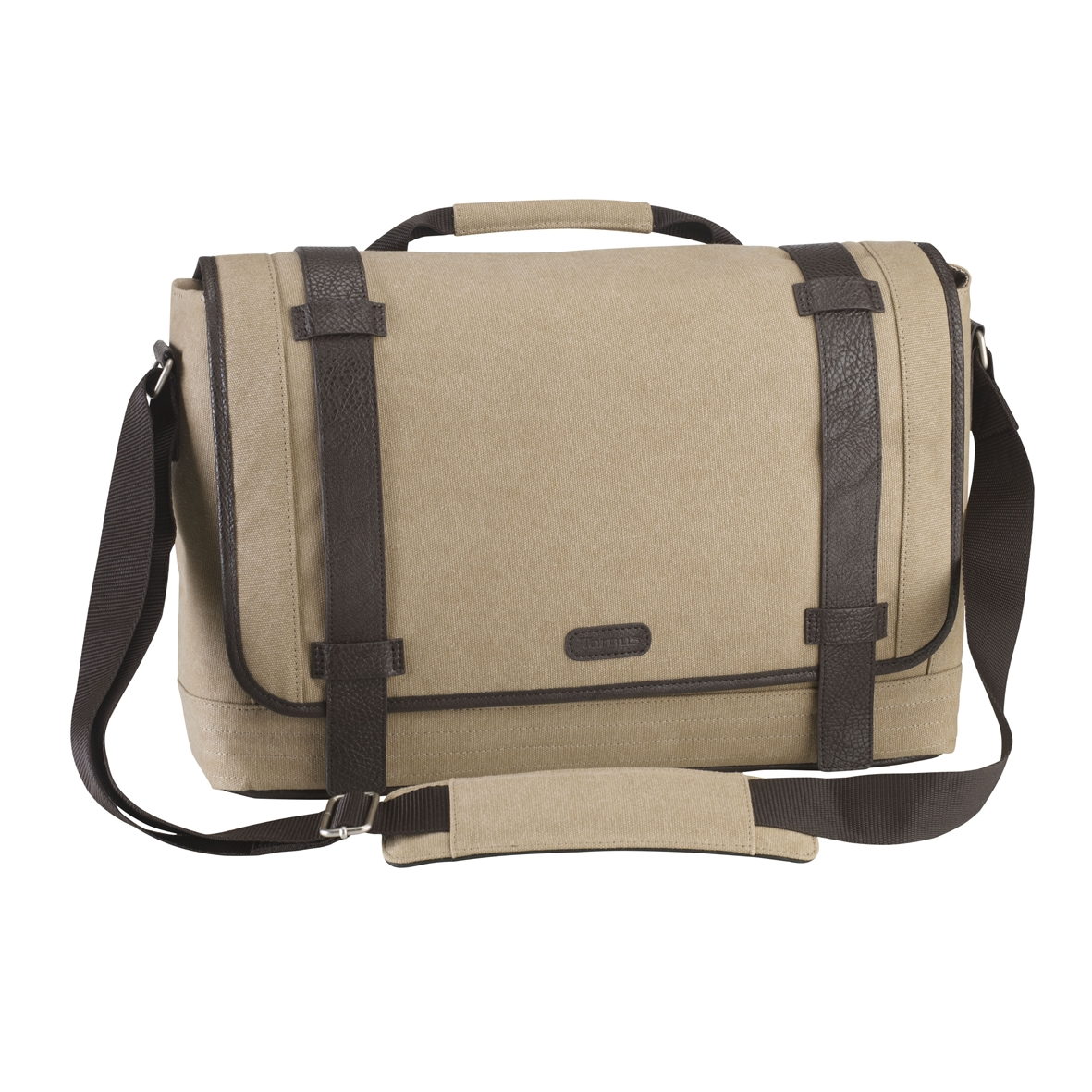 Picture Of City Fusion 15 6 Canvas Laptop Messenger Bag Beige