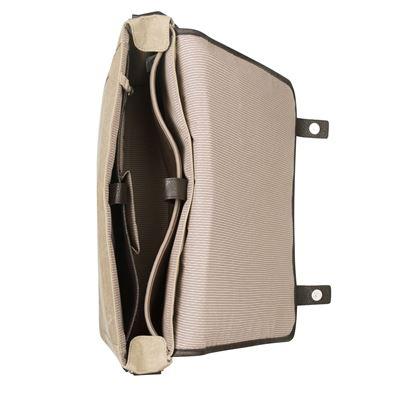 """Image sur City Fusion Besace en toile de coton pour ordinateur portable 15,6"""" - Beige"""