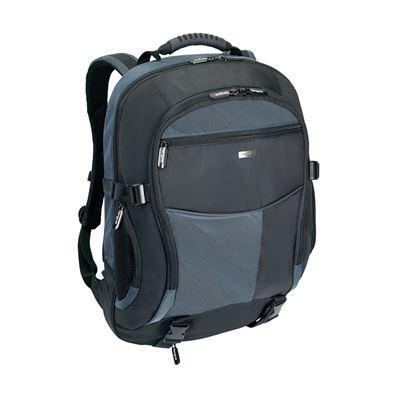 """Image sur Atmosphere Sac à dos pour ordinateur portable taille 17-18"""" - Noir/Bleu"""
