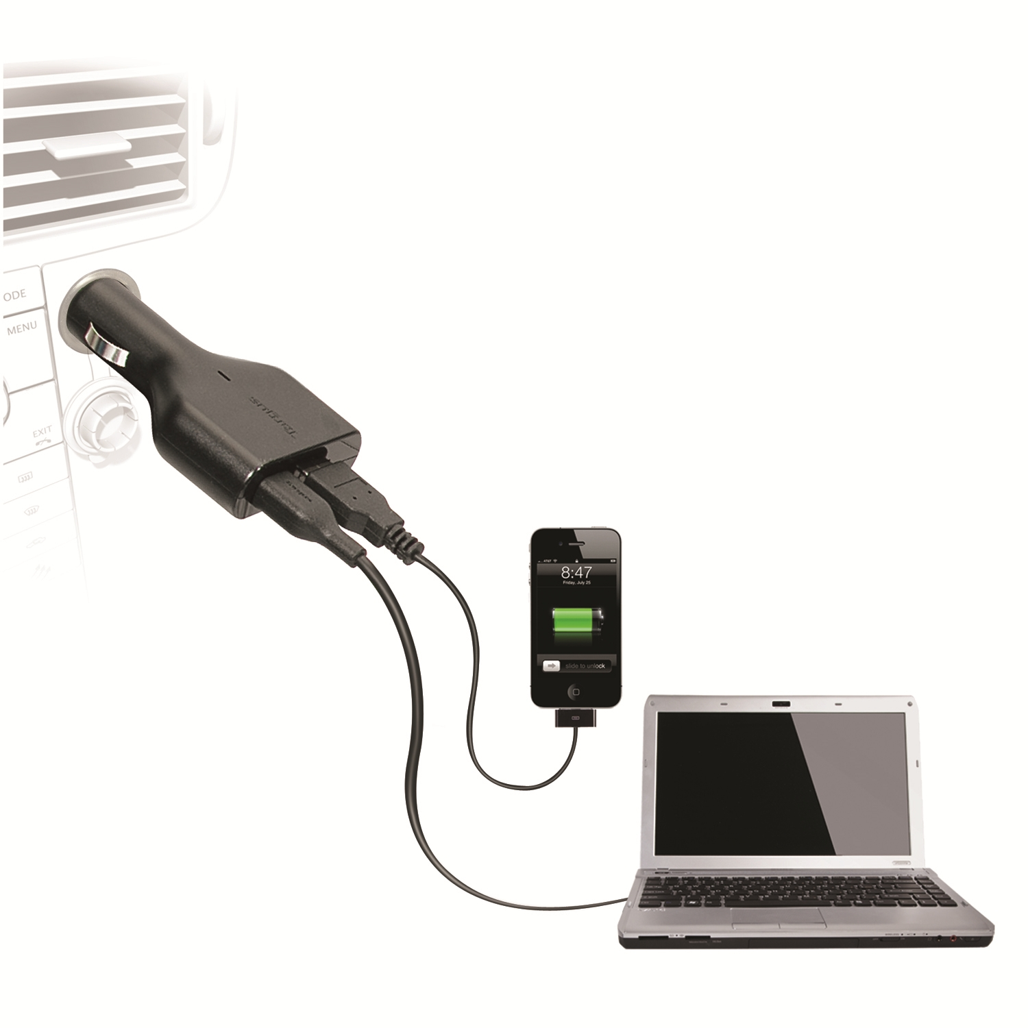 Picture Of Targus Laptop Car Charger Phone Tablet Charge