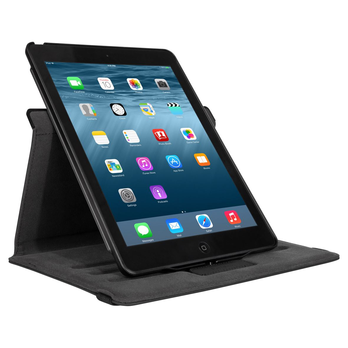 versavu 360 degree rotating case for ipad air 2 black. Black Bedroom Furniture Sets. Home Design Ideas