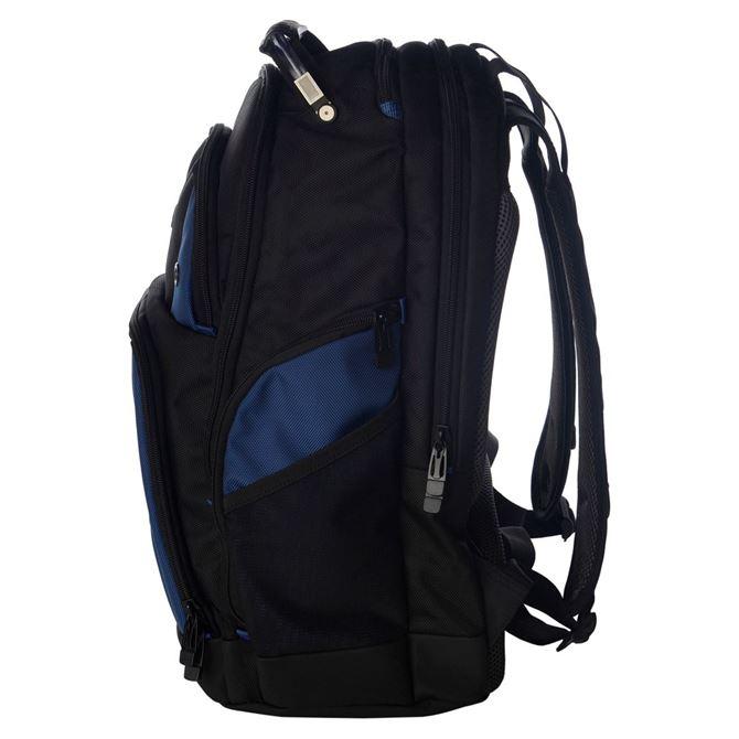 drifter sac dos pour ordinateur portable 15 6 noir bleu. Black Bedroom Furniture Sets. Home Design Ideas