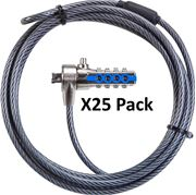 Picture of Serialised DEFCON®  T-Lock Combo Cable Lock - Master Pack (25)