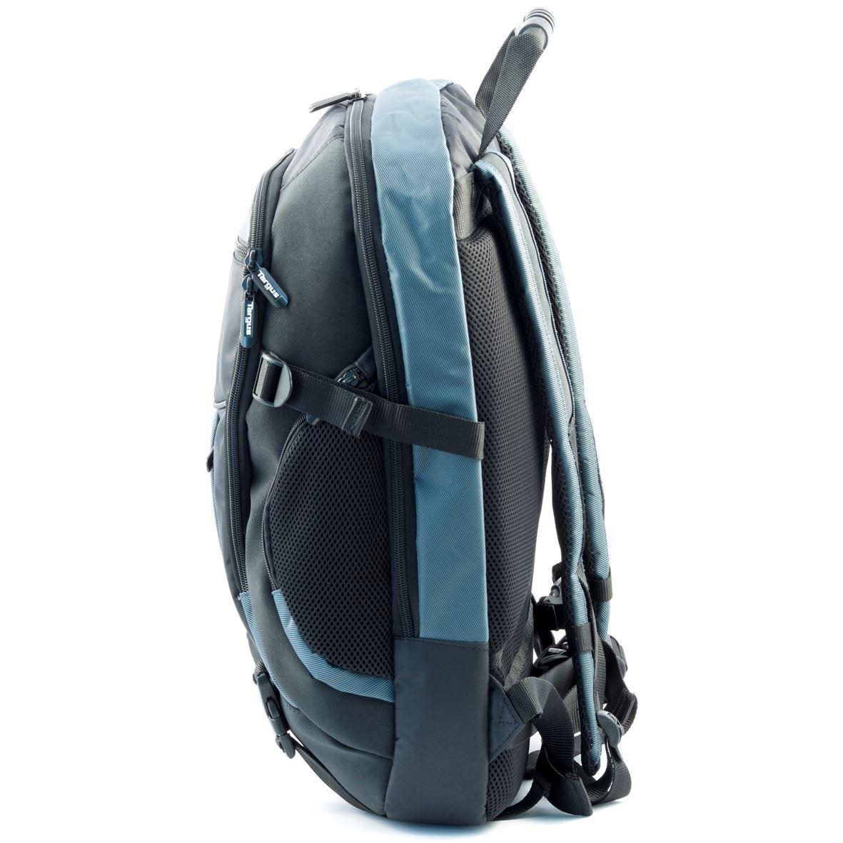 atmosphere 17 18 xl laptop backpack black blue. Black Bedroom Furniture Sets. Home Design Ideas