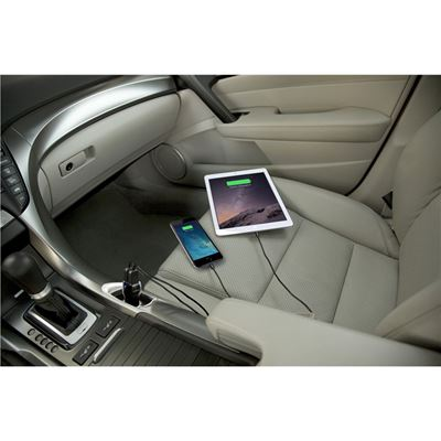 Picture of Dual USB Car Charger For Media Tablets & Mobile Phones