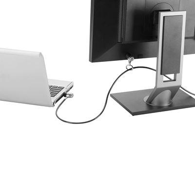 Imagen de Candado de seguridad con cable DEFCON Dual P2MKL de Targus - Gris