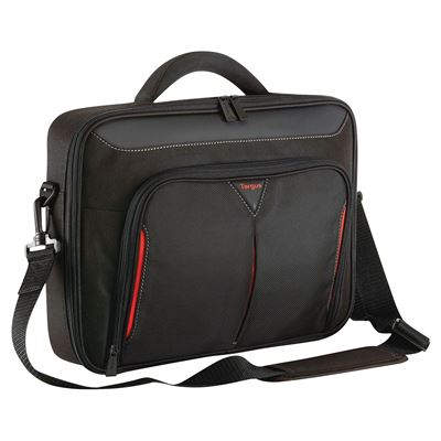 """Picture of Classic 14"""" Clamshell Case - Black/Red"""
