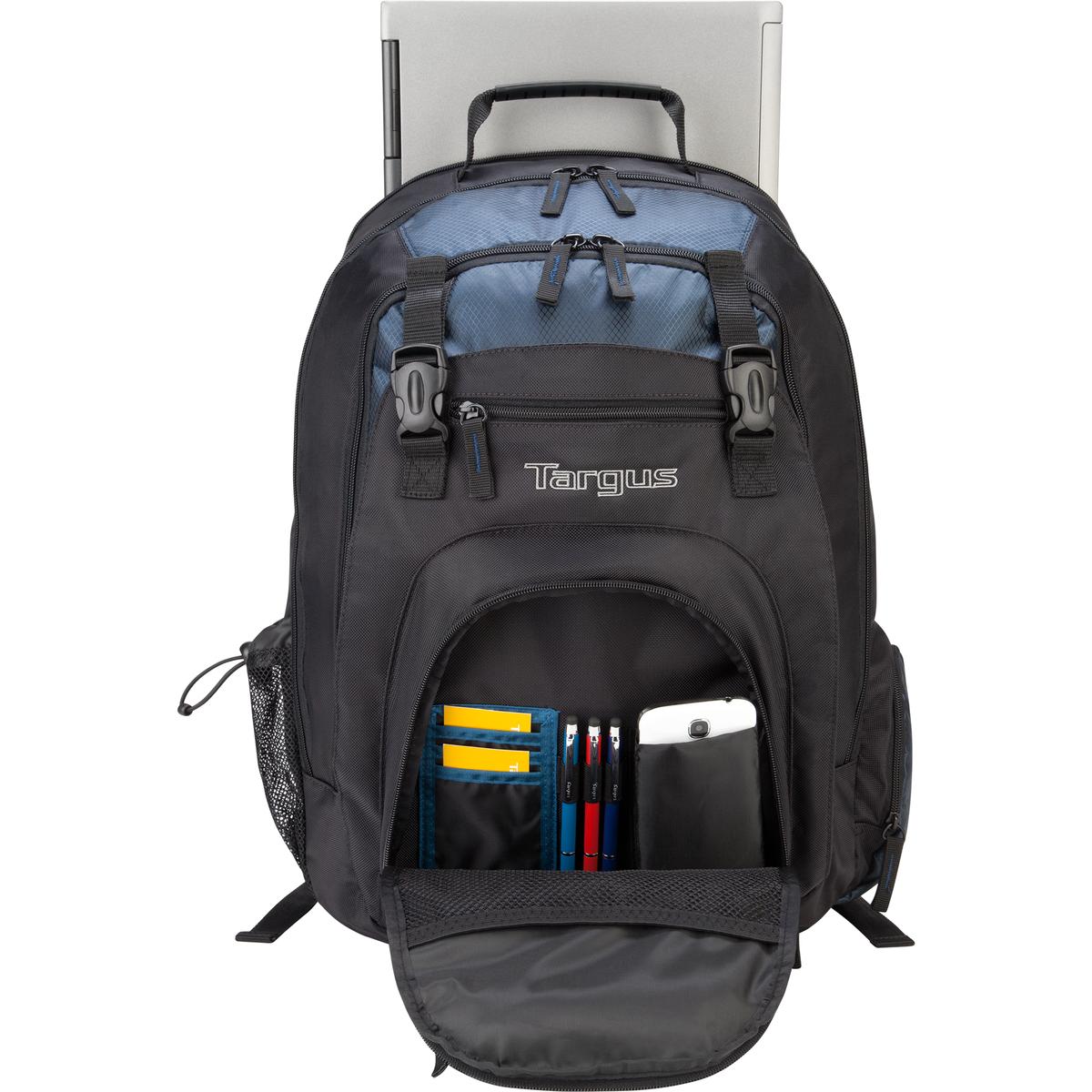 "17"" XL Laptop Backpack - TXL617 - Black/Blue: Backpacks: Targus"