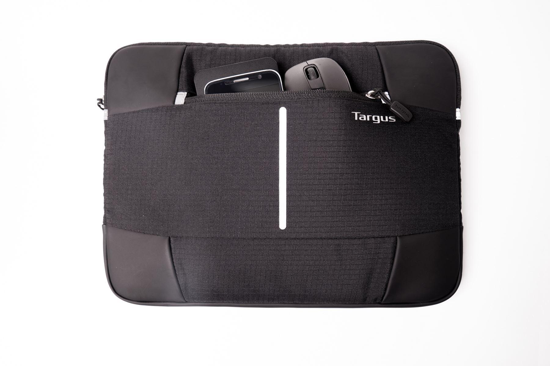 "Picture of Targus 13-14"" Bex II Laptop Sleeve - Black with black trim"