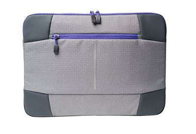 "Picture of Targus 12.1"" Bex II Laptop Sleeve - Grey with purple trim"