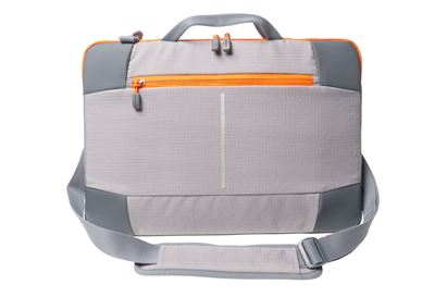 "Picture of Targus 15.6"" Bex II Laptop Sleeve - Grey with orange trim **Discontinued**"