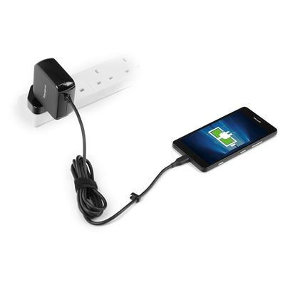 Picture of Universal USB C Mains Charger - Black