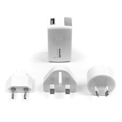 Imagen de Cargador USB para toma de pared y batería para móviles y tablets de Targus - Blanco