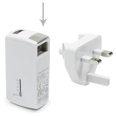 Picture of 2-in-1 USB Wall Charger & Power Bank - White