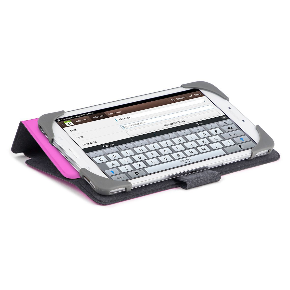 SafeFit 9-10 inch Rotating Universal Tablet Case - Pink