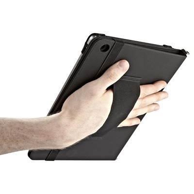 """Picture of Made for Business Kickstand with Hand & Shoulder Strap for iPad (2017), iPad Pro 9.7"""", iPad Air 2, iPad Air - Black"""
