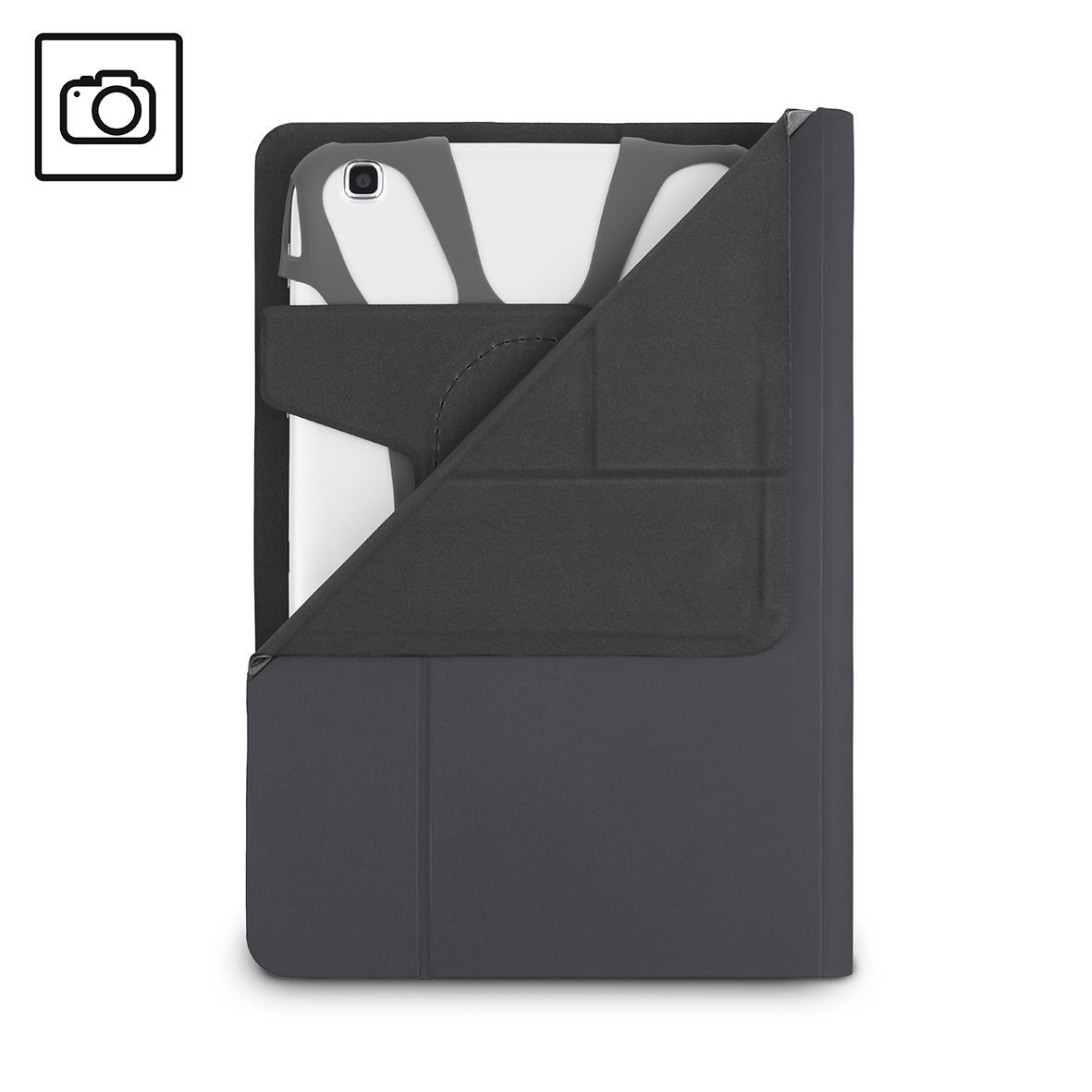 7-8'' Fit-N-Grip II Rotating Universal Tablet Case - Inside Tray
