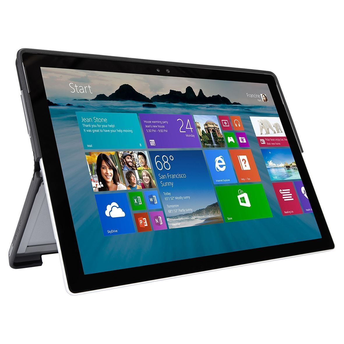 Folio Wrap + Stand for Microsoft Surface Pro 4 (THZ618GL) - Use5
