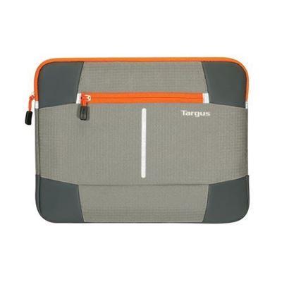 "Picture of Targus 12.1"" Bex II Laptop Sleeve - Grey with orange trim"