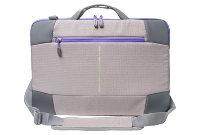 "Picture of Targus 15.6"" Bex II Laptop Slipcase - Grey with purple trim"