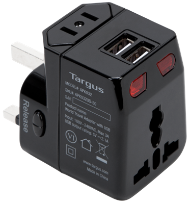 Picture of World Travel Power Adapter with Dual USB Charging Ports