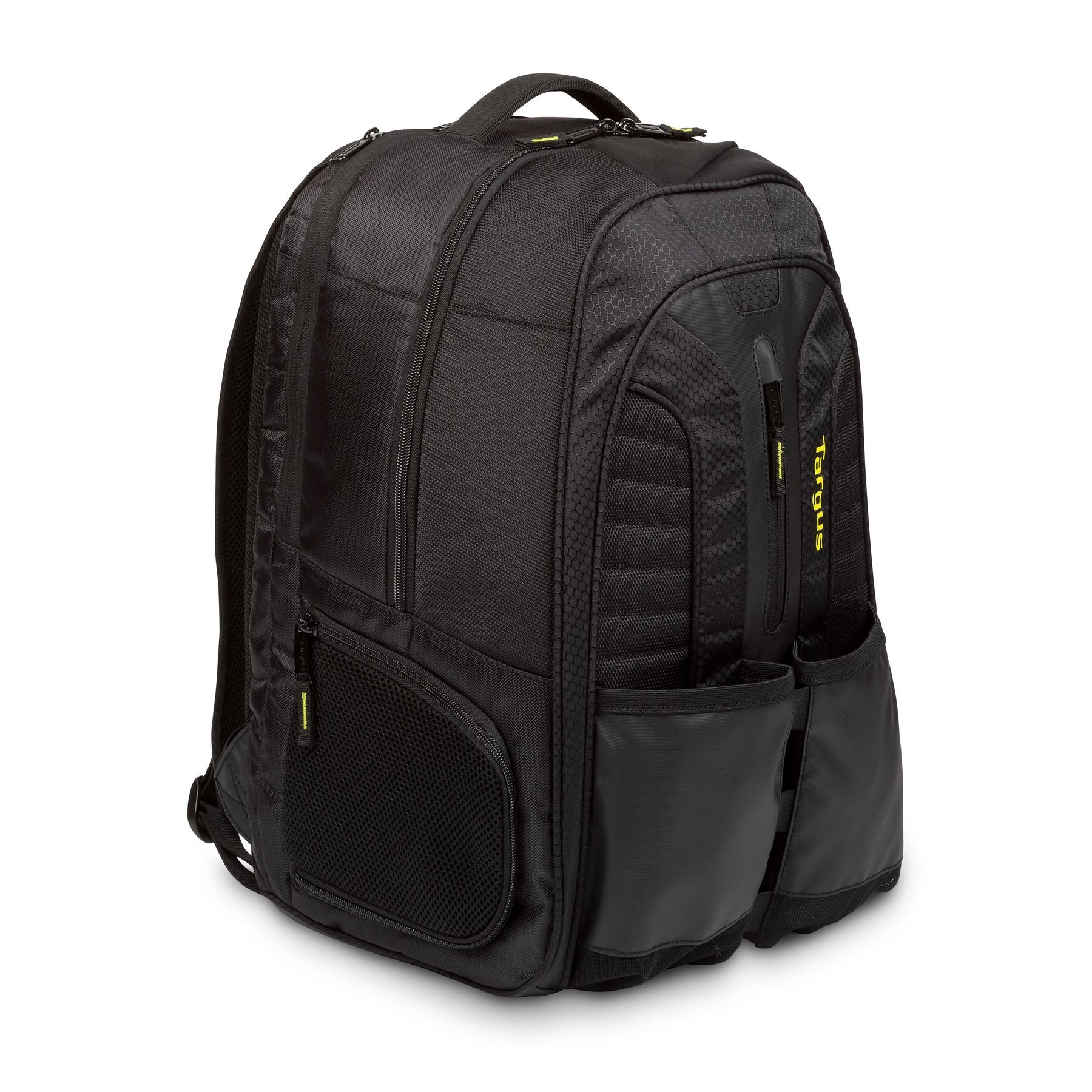 sac dos targus pour sports de raquettes et ordinateur portable 15 6 noir jaune. Black Bedroom Furniture Sets. Home Design Ideas