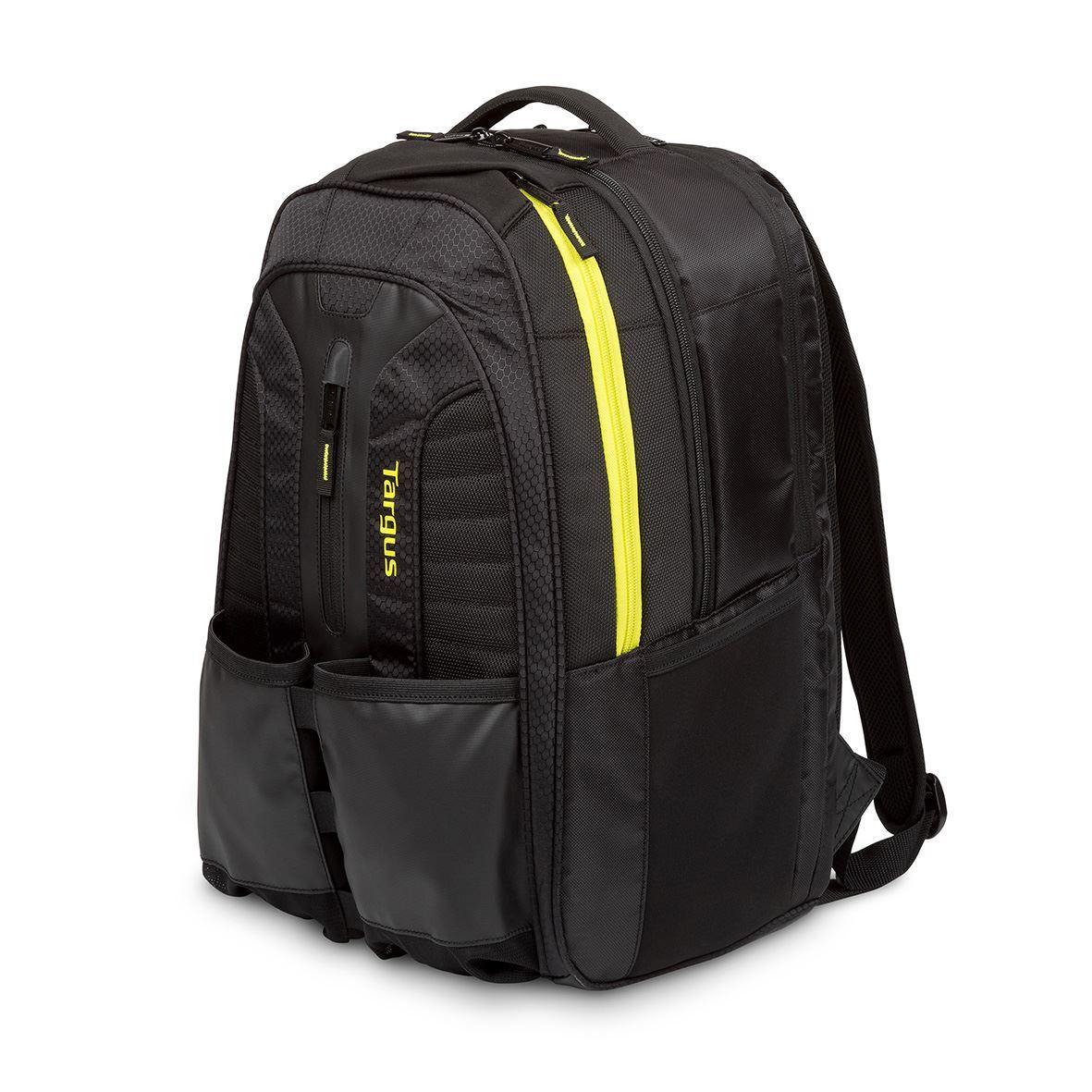 """Work + Play Rackets 15.6"""" Laptop Backpack - Black/Yellow"""