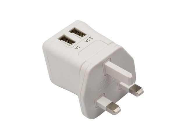 Picture of World Power Ultramini 15.5W dual-USB (White)